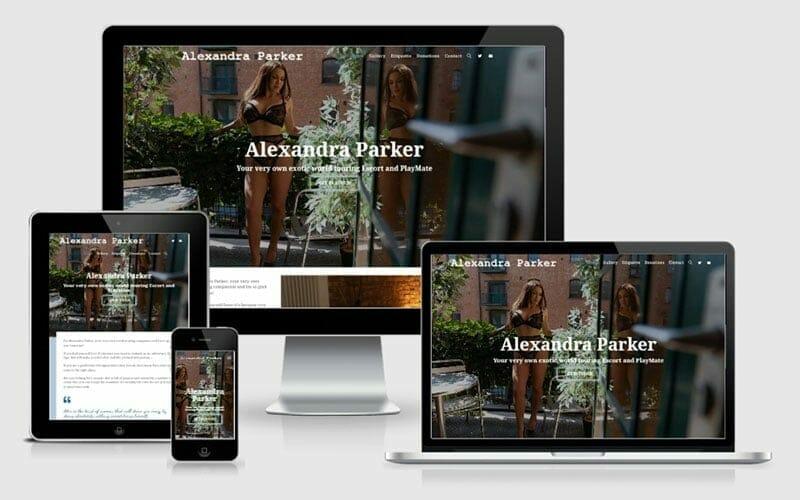 Alexandra Parker Escort Website Design