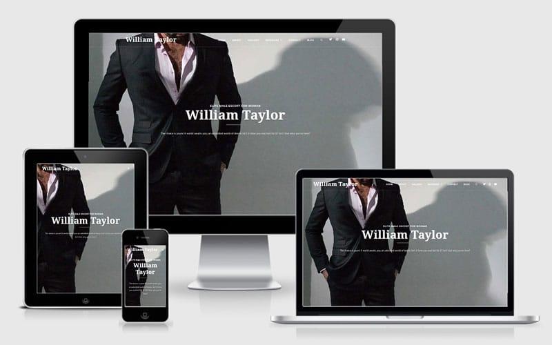 WIliam Taylor Male Escort Website Design