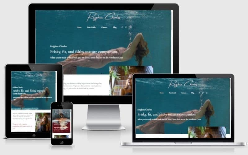 Reighna Charles Escort Website Design